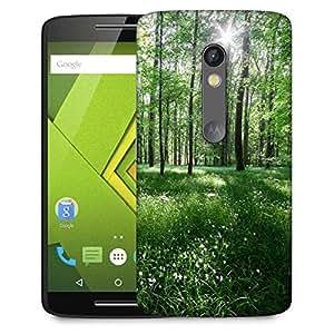 Snoogg White Flowers Designer Protective Phone Back Case Cover For Lenovo Motorola Moto G4