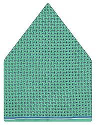 Tiekart Polka Print Silk Pocket Square (Ps453_Green)