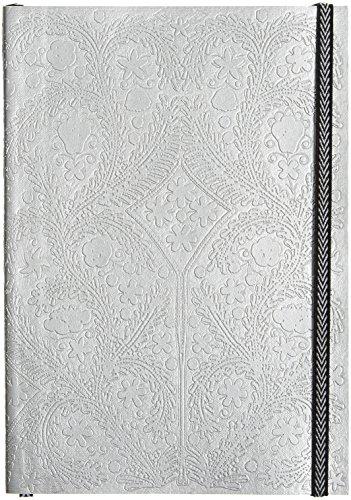 christian-lacroix-paseo-embossed-silver-with-lay-flat-notebook-elastic-7-by-10-inches-152-ruled-ivor