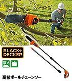 BLACK&DECKER 高枝ポールチェーンソー GPC1820LN ガーデニング・DIY・防殺虫 アイデアガーデニング・花・