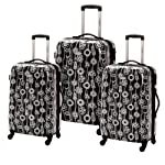 Samsonite Fashionaire 3 Piece Spinner Luggage Set Black/White