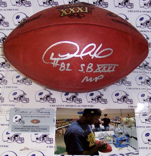 Desmond Howard Autographed Hand Signed Super Bowl 31 XXXI Official NFL Football - Autographed College Footballs