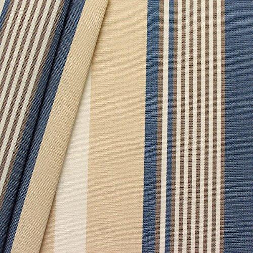 Markisen Outdoorstoff Streifen Breite 160cm Blau-Beige-Weiss