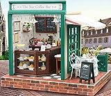 【福美康】ミニチュア ドール ハウス DIY スター コーヒーショップ カフェ 組み立て キット ハンドメイド 手作り お店シリーズ (スターコーヒー)