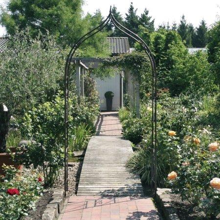 my garden rosenbogen metall unterverzinkt und pulverbeschichtet 140 x 40 x 290 cm bronze. Black Bedroom Furniture Sets. Home Design Ideas