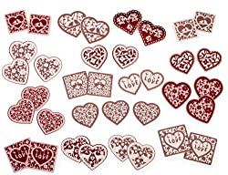 Martha Stewart Crafts Valentine's Day Foil Hearts Stickers