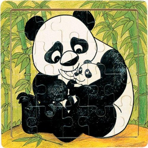 615lKiTk29L Cheap  Panda & Cub   Jigsaw 21pc Wooden Puzzle