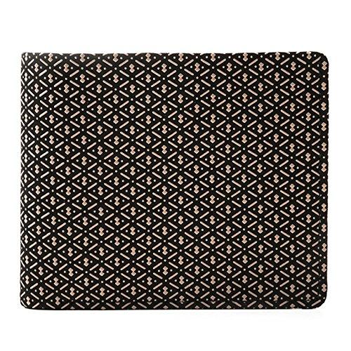 印傳屋(INDEN-YA) 印伝 本鹿革 折り財布 札入J ひょうたん[黒×白] 2006