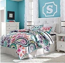 LELVA Bohemian Style Kids Bedspreads Set,children\'s Bedspreads Set,patchwork Quilt,quilt Mini Set (Full)