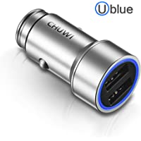 Chuwi Ublue 17W/3.4A Dual USB Car Charger with Blue LED Ring