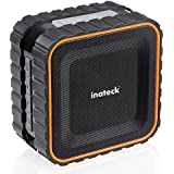 [Waterproof] Inateck Outdoor Bluetooth Speaker with Enhanced Bass, 3W Driver with 6-8 Hours of Playtime| Built in Microphone | IPX5 Waterproof | with Suction Cup for Showers Bathroom