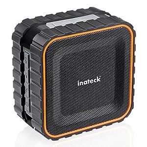 [Wasserdicht] Inateck aufladbarer Tragbarer Bluetooth Lautsprecher Wireless Speaker gesteigertem Tiefbass | 3W | IPX5 Wasserdicht Standard