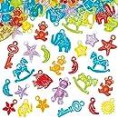 Lot de 100 Breloques pour Bracelet pour enfants - Idéal pour offrir comme cadeau d'anniversaire