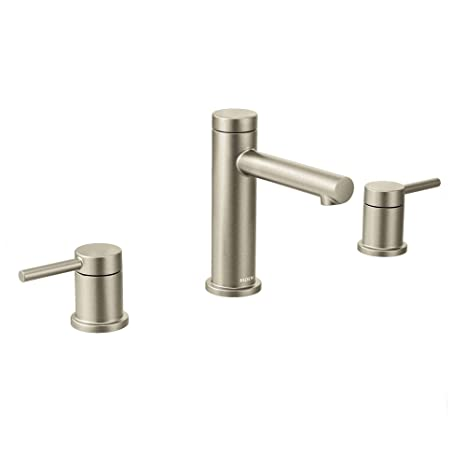 Moen T6193BN Align Two-Handle High Arc Bathroom Faucet, Brushed Nickel