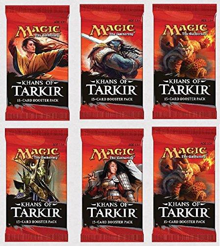 6 (Six) Packs Of Magic: The Gathering - Mtg: Khans Of Tarkir Booster Pack Lot (6 Packs) front-760438