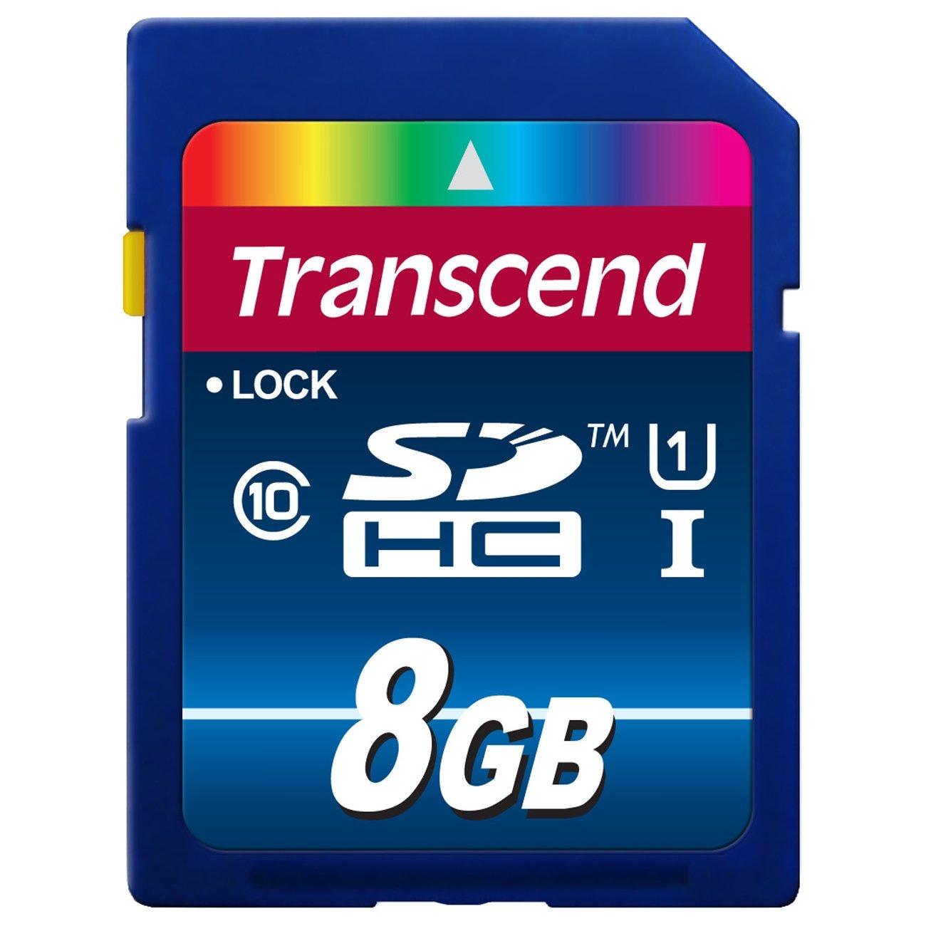 Transcend TS8GSDU1 8GB SDHC Class10 UHS-I Card 300X карта памяти transcend 8gb microsdhc class 10 uhs i 300x premium adapter ts8gusdu1