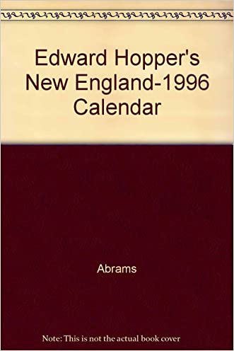 Edward Hopper's New England-1996 Calendar written by Abrams