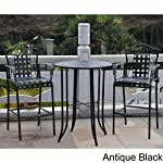 3-piece Bistro Set with 2 Bar Chairs and a Table. Four Different Colors to Choose From. Made of Iron. Indoor or Outdoor Patio Furniture. Scented Tart Included (Antique Black)