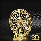 3D Ferris Wheel Metal Model Kit Artcraft DIY Kit with Arcylic Display Case