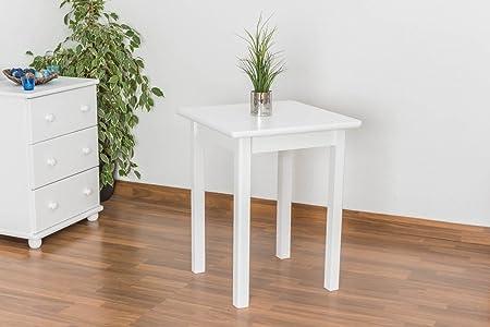 Tisch 60x60 cm Kiefer massiv, Farbe: Weiß
