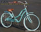 "Aluminum Alloy Anti-Rust Frame, Fito Brisa SF Alloy 3-speed - Sky Blue, women's 26"" wheel Beach Cruiser Bike Bicycle, Shimano Nexus Equipped"