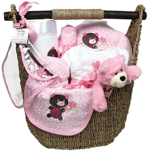 Raindrops Welcome Home 13 Piece Gift Set, Pink, 3-6 Months - 1