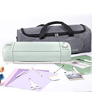 LLYWCM Lightweight Carrying Bag Compatible with Cricut Explore Air, Cricut Maker and Cricut Explore Air 2, Foldable Travel Tote Case for Die-Cut Machines Accessories and Supplies (A - Gray) (Color: A - Gray)
