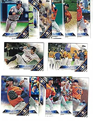 Houston Astros / Complete 2016 Topps Series 1 Baseball Team Set. FREE 2015 TOPPS ASTROS TEAM SET WITH PURCHASE!