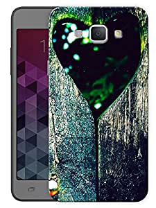 """Heart In Wood Bark Printed Designer Mobile Back Cover For """"Samsung Galaxy A8"""" (3D, Matte, Premium Quality Snap On Case)"""