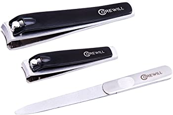 Corewill 3-Piece Nail Clippers 3-in-1 Manicure & Pedicure Set