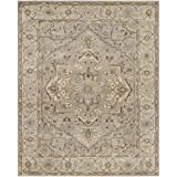 Safavieh Heritage Collection HG866A Handmade Beige and Grey Wool Area Rug, 9-Feet by 12-Feet