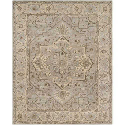 Safavieh Heritage Collection HG866A Handmade Beige and Grey Wool Area Rug, 9 feet by 12 feet (9' x 12')