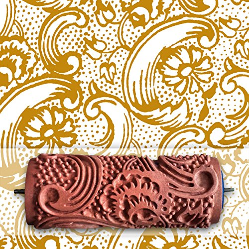 Rolling Robin Patterned Paint Roller Kit. Stencil For Creating Paint ...