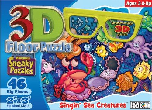 Cheap Fun Patch 3D Sneaky Floor Puzzle Singin' Sea Creatures (B003BLQG4O)