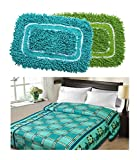 Christys Collection Floral Blends Buy 1 Double Blanket and Get 2 Cotton Mats - Multicolour