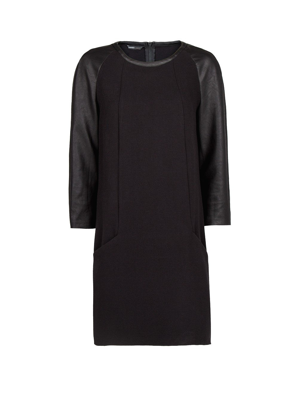 Mango Women's Contrast Sleeve Shift Dress