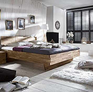 Solid Wood Cielo Mattress: 180 cm x 200 cm, Colour: Wild Oak Oiled