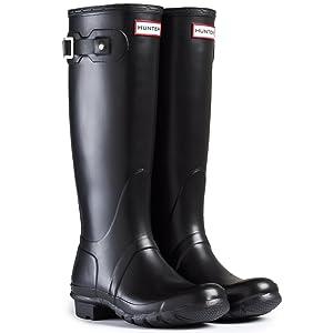 Hunter Original Tall Gloss Wellington Boots - Black