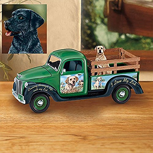 The Bradford Exchange Cruising Through Life With My Black Lab Musical Porcelain Truck By Linda Picken (Bradford Truck Bed compare prices)