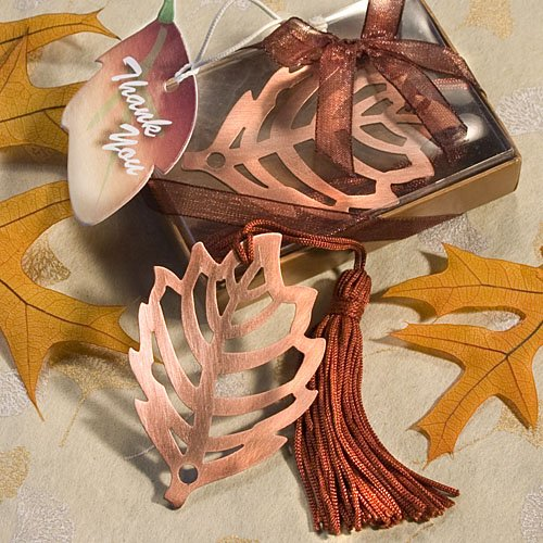 Fall Leaf Bookmark Favor