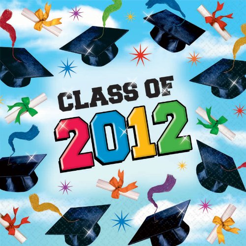 Grad Spirit Graduation 2012 Lunch Napkins - Official Party Supplies - 1