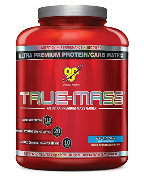 BSN True Mass Vanilla Ice Cream, 1er Pack (1 x 2.61 kg)