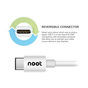 [2-Pack 6FT] noot products USB C to A Charging Cable for Huawei Honor 10/9/8/View 10/P20 Pro/P20/Mate 10 Pro/Mate 10/ P10 / Mate 9-6 Feet Type C to A Fast Charge Charger Cord (Color: White, Tamaño: 3 feet)