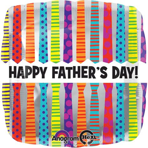 Std Father's Day Tie Pattern Balloon 5 pack