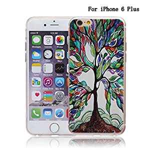 iPhone 6 Plus Case, Newshine(TM) **Clear** iPhone 6 Plus Protective Case Bumper, [Scratch-Resistant] Unique Slim [Perfect Fit] Transparent Clear Art Pattern Crystal Gel TPU Rubber Flexible Ultra Thin and Lightweight Soft Case