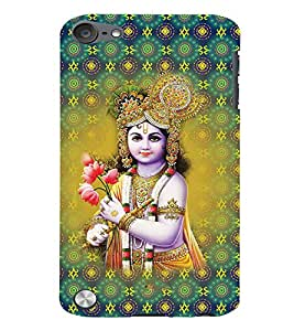 Fuson 3D Printed Lord Krishna Designer back case cover for Apple iPod Touch 5 - D4327