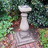 Garden Sundial - Baluster Verdigris Stone Sun Dial