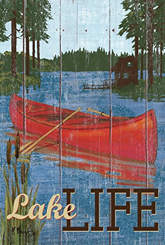 Toland Home Garden Rustic Lake Life 28 X 40 Inch