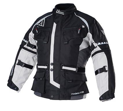 Modeka tOUREX de moto en tissu pour enfant-noir/gris