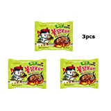 3pcs Samyang Jjajang Buldak Spicy Black Bean Roasted Chicken Ramen Noodle (Tamaño: 3 Pack)